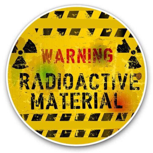 Warning Radioactive Chernobyl Cool Gift #14617 2 x Vinyl Stickers 10cm
