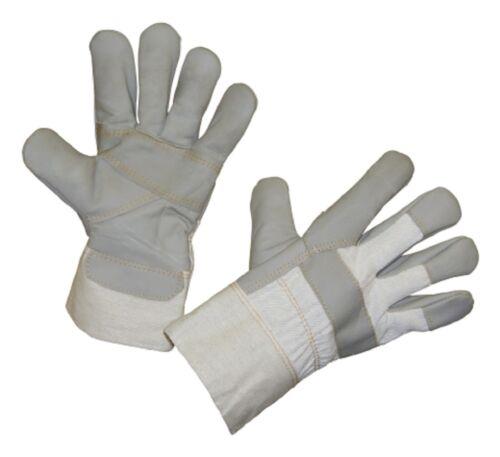 6 Paar Arbeits-Handschuhe Furna Gr.10//10,5 Polsterleder 29786 Arbeitshandschuh