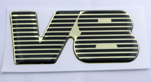 TVR V8 Gel Domed Black /& Gold Effect Self Adhesive Badge 73x45mm