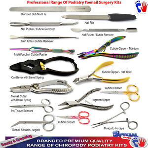 Details about Podiatry Nail Surgery Toenail Removal Kits Cutter Clipper  Ingrown Nipper Pushers
