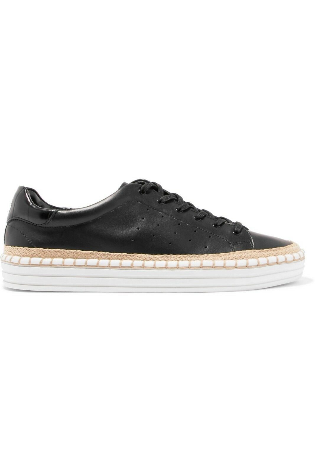 Sam Edelman Kavi black leather wedge platform sneakers trainers 5 BNIB