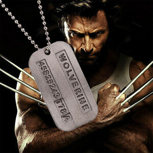 Wolverine X-Men James Logan Metal Pendant Chain Dog Tag Necklace