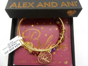 Alex-and-Ani-Believe-Set-of-2-Color-Infusion-Wine-Shiny-Gold-NWTBC