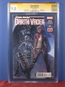 DARTH VADER #3 CGC 9.8 SS - Signed DAVID PROWSE - First Doctor Aphra 1st app