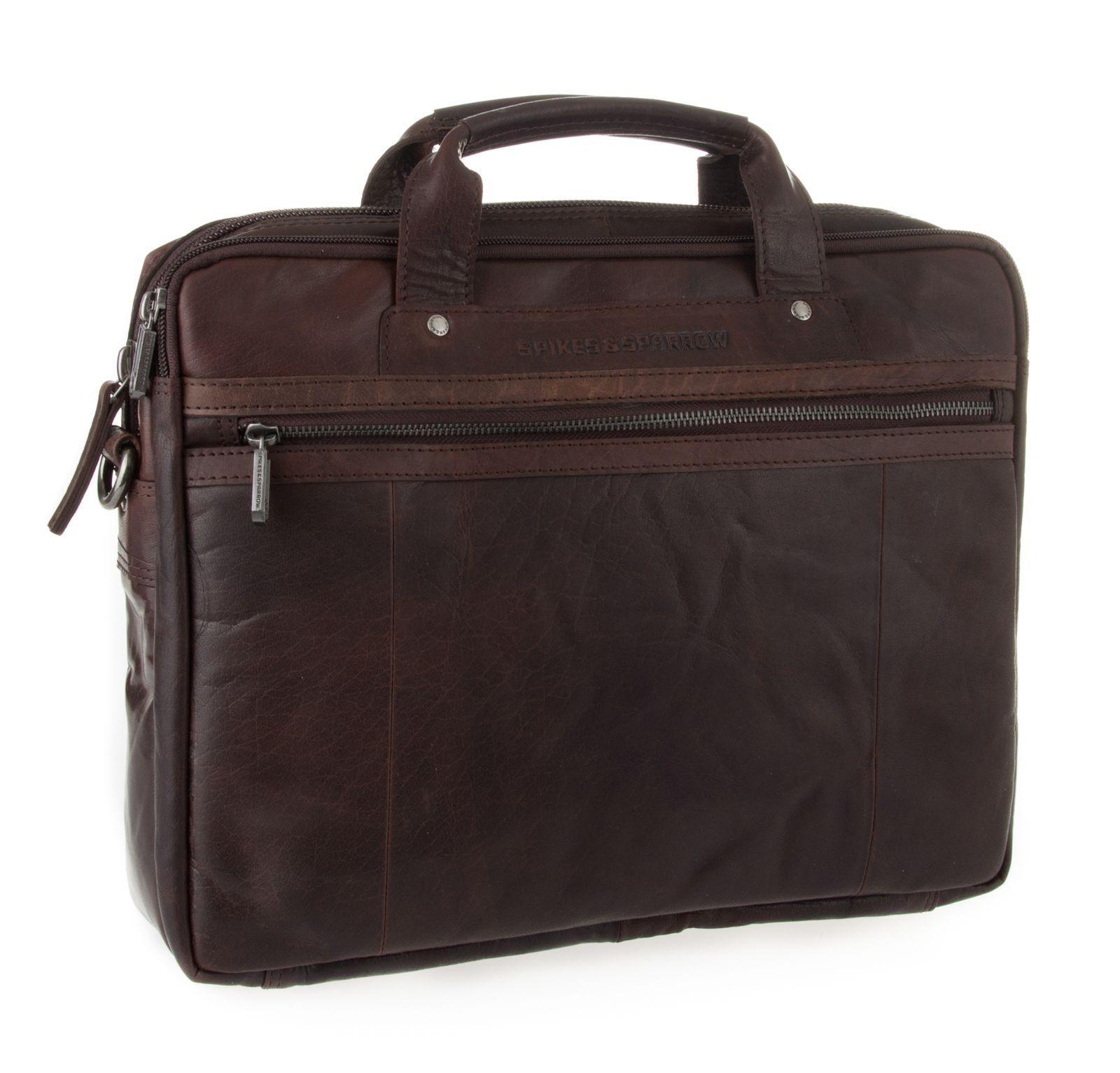 SPIKES & SPARROW Bronco Business Bag S Umhängetasche Tasche Dark braun Braun Neu | Online-verkauf  | Lass unsere Waren in die Welt gehen  | Leicht zu reinigende Oberfläche