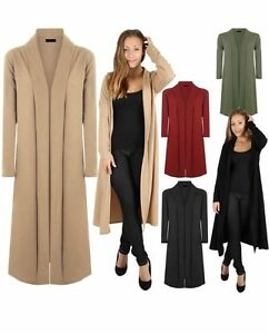 NEW TOP LADIES FLOATY CREPE OPEN FRONT DUSTER CARDIGAN JACKET COAT S M L 8 10