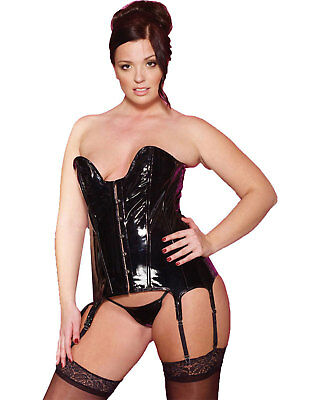 Morris Costumes Women Vinyl Corset With G-String Black 3X. AU115057XXX