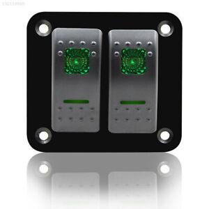 39A5-Green-12V-24V-2-Gang-LED-RV-Toggle-Switch-Cars-4-Colors-Boat-Control