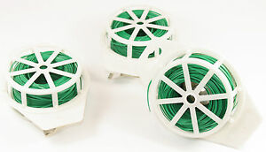 Attache-fil 3 Pièces Par 100m Rödeldraht Fleurs Fil à Langer Fil Plantes Fil 605-afficher Le Titre D'origine Texture Nette