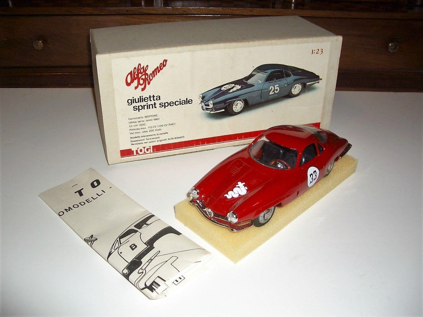 1 23 TOGI Alfa Romeo Giulietta SS Sprint Speciale 1960  33 rouge MIB Very Rare