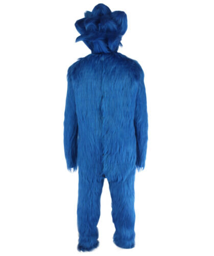 Men/'s White and Blue Straight Long Furry Hedgehog Cosplay Cos HM-1381A+HC-1691