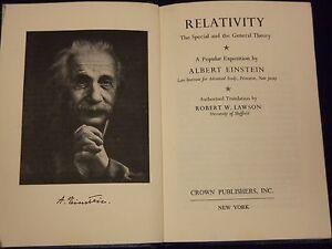 1961-RELATIVITY-A-POPULAR-EXPOSITION-BY-ALBERT-EINSTEIN-BOOK-KD-2923E
