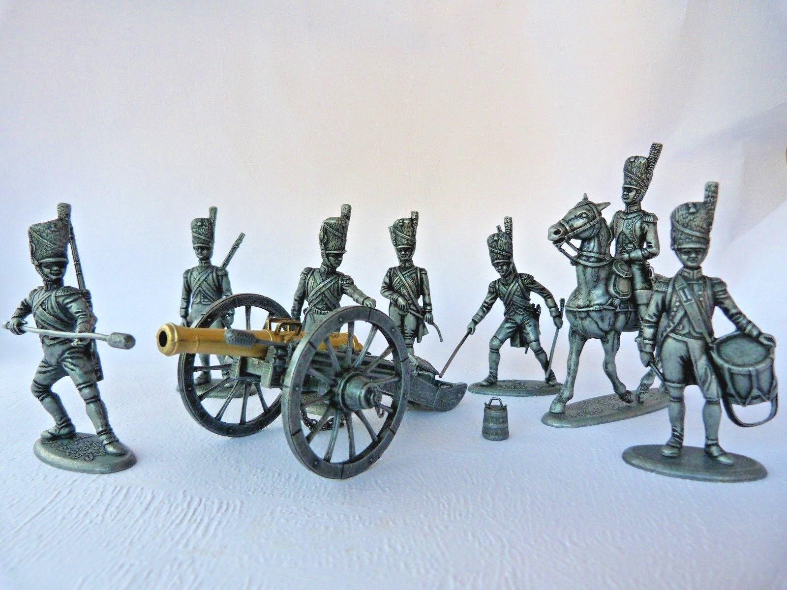 Soldats de plomb MHSP - Artillerie Artillerie Artillerie française premier empire - Austerlitz 1805 5b99c9