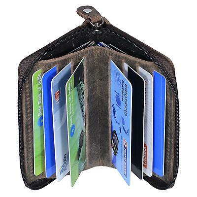 Hide & Sleek Hunter Leather Card Holder In Dark Brown