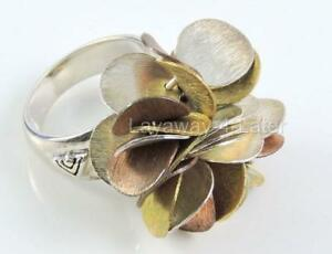 Silpada-R1978-Sterling-Silver-925-Brass-Copper-Bloom-Size-6-Ring-Cha-Cha-84