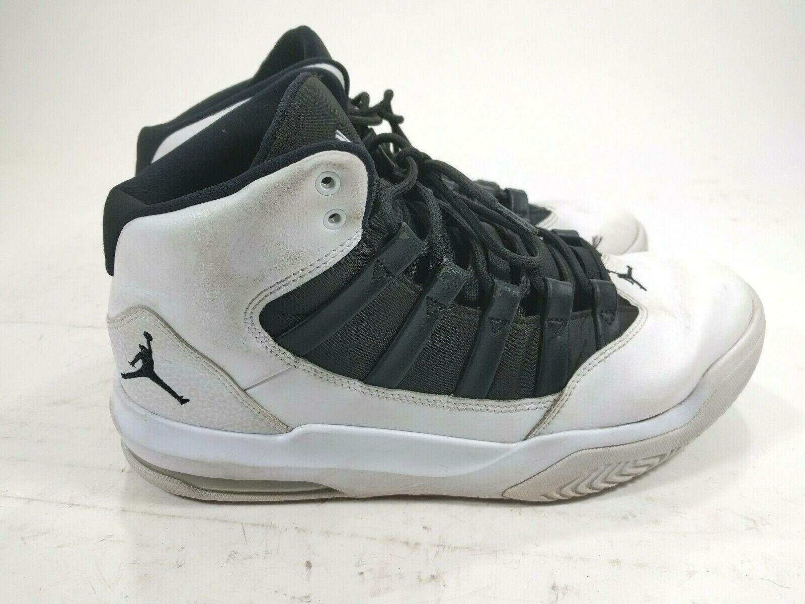Para hombres zapatos de baloncesto Jordan Max Aura Air blancoo Negro Tamaños 10 AQ9084-100