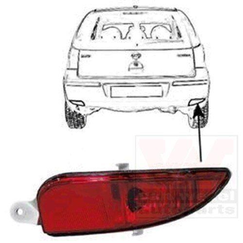 VAN WEZEL 3779938 Nebelschlussleuchte  rechts für Opel Corsa C