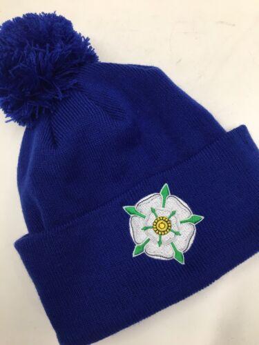 Yorkshire Rose Beanie bobble hat