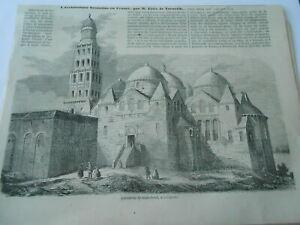 Gravure 1852 - Cathédrale De Saint Front à Périgueux Rendre Les Choses Pratiques Pour Les Clients