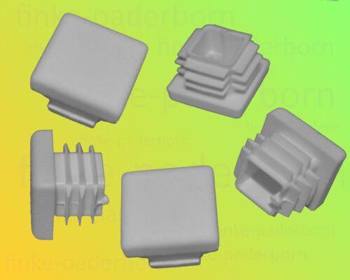 100 x Lamellenstopfen Weiß 20x20 mm Wandstärke 0,8 bis 3 mm Endkappe Abdeckkappe