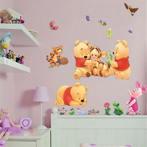 Winnie The Pooh Baby Kids Nursery Bedroom Wall Stickers Removable Room