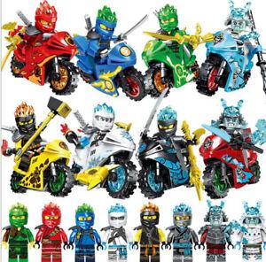 Minifigures-Ninja-Mini-Figures-Fits-Lego-8Stk-Ninjago-Motorcycle-Set