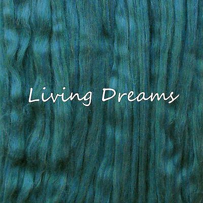 SPINNING FELTING Pencil Roving MERINO WOOL TOP Craft Fiber LIVING DREAMS Spruce