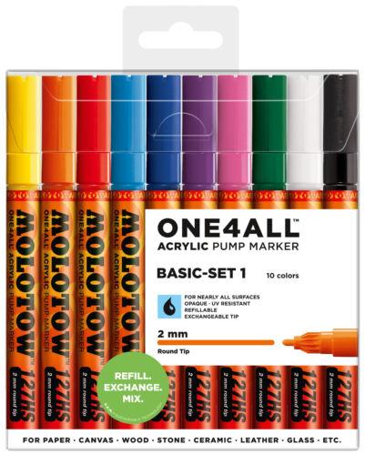 MOLOTOW ONE4ALL™ 127HS Acrylmarker Basic-Set 1 Permanentmarker *!bestprice!*