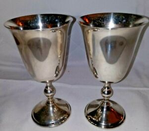 """Vintage """"W A"""" ((William Adams)) Silver Plated made in Italy Goblets / Wine Glass"""