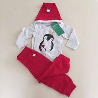 H&m Adorable Girls Organic Cotton 3 Piece penguin Set. 2-4 Months. Exquisite