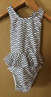 Old Navy Infant Newborn Baby Black White Chevron Tutu One-piece Swimsuit 3-6 M