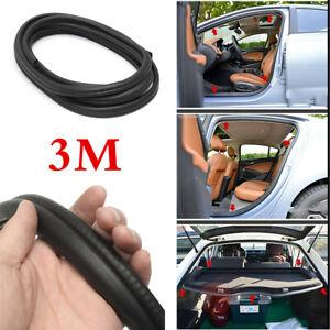 3M Black Rubber Car Door Antiscratch Soundproof Edge Mouldings Trim Seal Strip