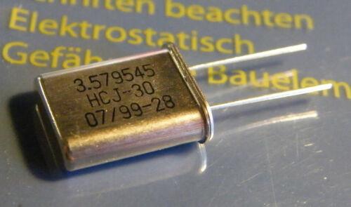 20x Quarz 3.579545MHz HC18//U-Bauform