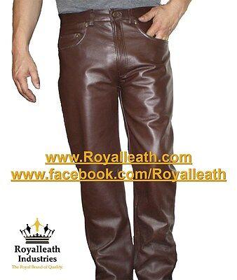 100/% REAL LEATHER CHAPS leder hosen pantalon fetish gay jock jeans pants