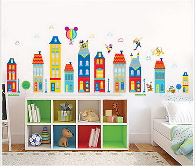 Disney Land Mickey Minnie Club Wall Sticker Decal Removable Decor Kids mural Art