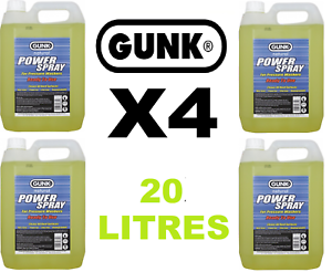 Details about 4 X 5 Litre GUNK POWER SPRAY (20 LITRES) Pressure Washer  Cleaning Fluid (67)