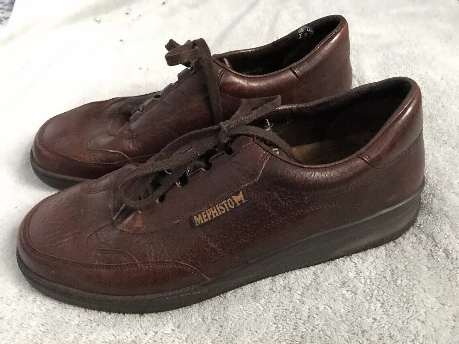 Mephisto Runoff  Mens Sz 11.5 Brown Leather Casual Lace Up Walking shoes SC8