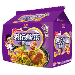 100-121g-5-Chinese-Snacks-Unified-100-Chinese-Instant-Noodles