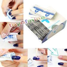 200pcs Gel Polish Remover Wraps Easy Foil Nail Art Cleaner w/ Acetone
