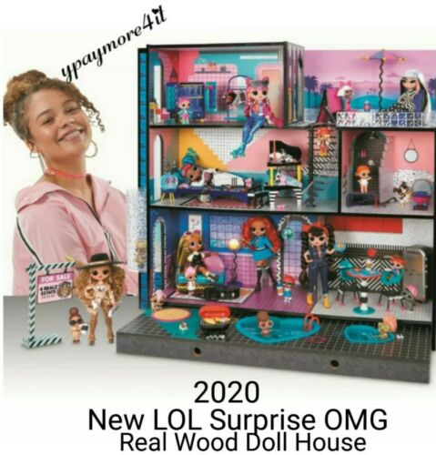 2020 NEW LOL Surprise OMG Fashion Doll House Real Wood w//85 Surprises