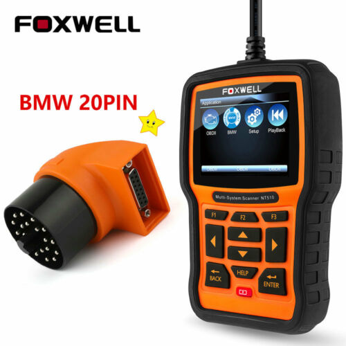 With 20Pin For BMW OBD2 Diagnostic Scanner ABS SRS Full System Scan Tool NT510