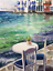 Indexbild 2 - Watercolor painting. Greece. Sea view. Aquarell Gemälde. impressionism seascape