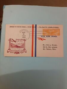 COVER USA 1ST FLIGHT JUNEAU WHITE HORSE 1938 PACIFIC ALASKA AIRWAYS