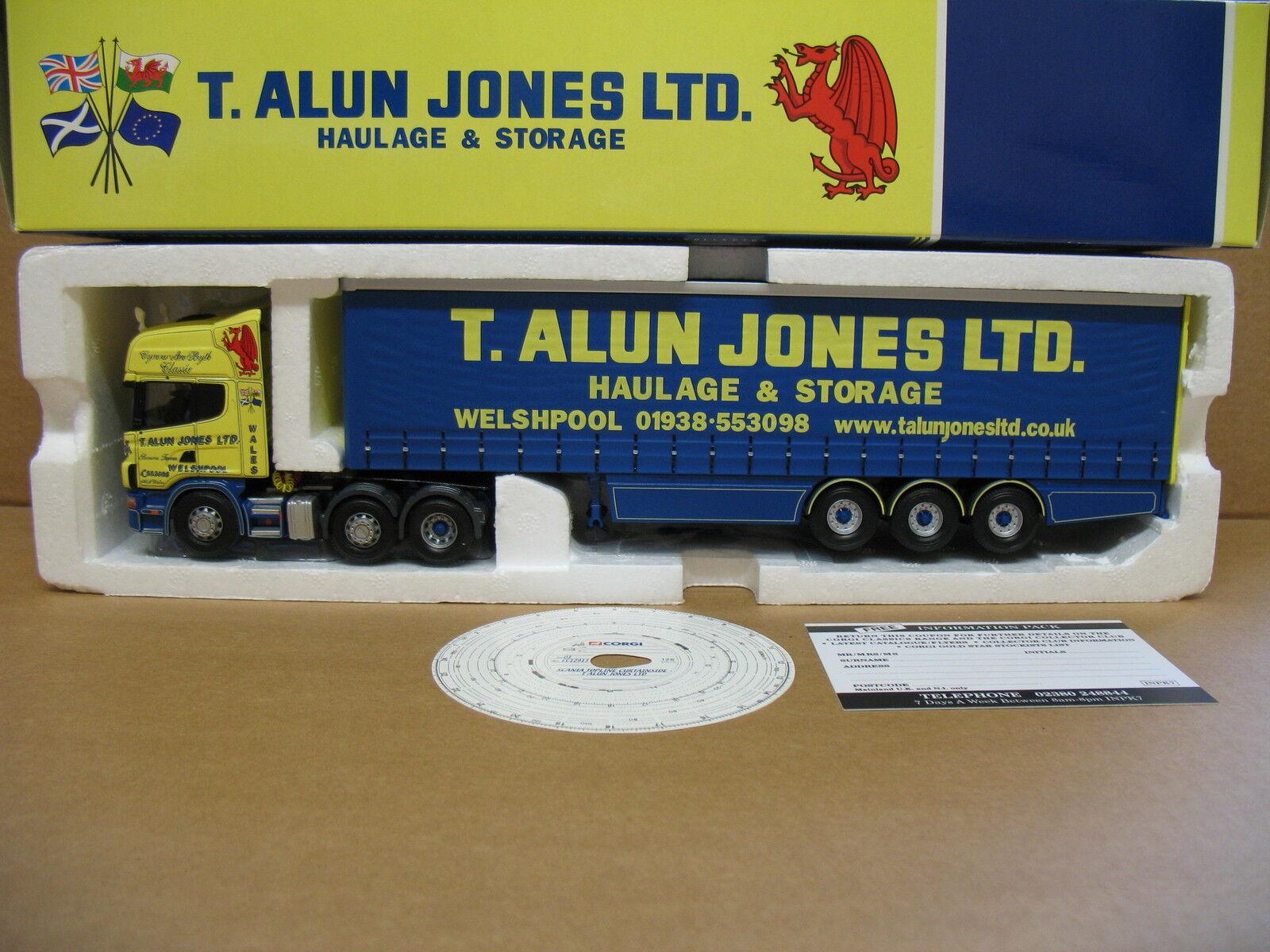 CORGI 1 50 SCALA CC12913-Scania Topline CURTAINSIDE-T ALUN Jones Ltd