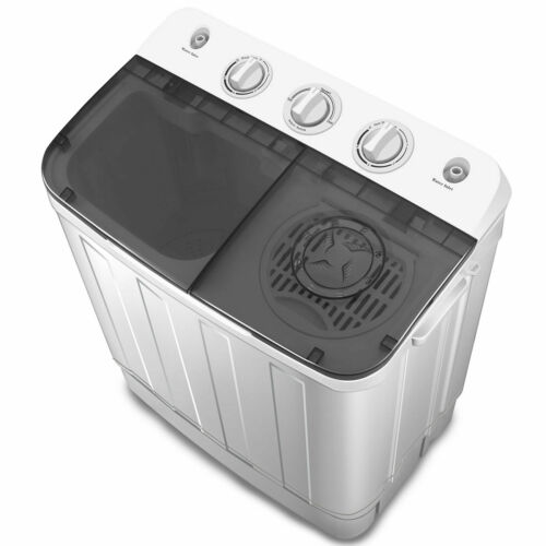 Spin Dryer 7.5kg Portable Washing Machine Compact Mini Twin Tub Laundry Washer