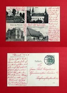 AK-PETERWITZ-Kreis-Frankenstein-1910-Geisers-Villa-Schloss-und-Kirche-46432