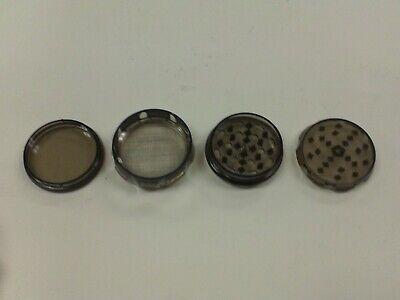 "HARD PLASTIC 4-PIECE TOBACCO HERB SPICE GRINDER SCREEN MAGNET PINK  2.25/"" USA"