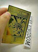 Usa Seller Cosplay Yugioh Red-eyes B. Dragon Golden Metal Card Custom Made