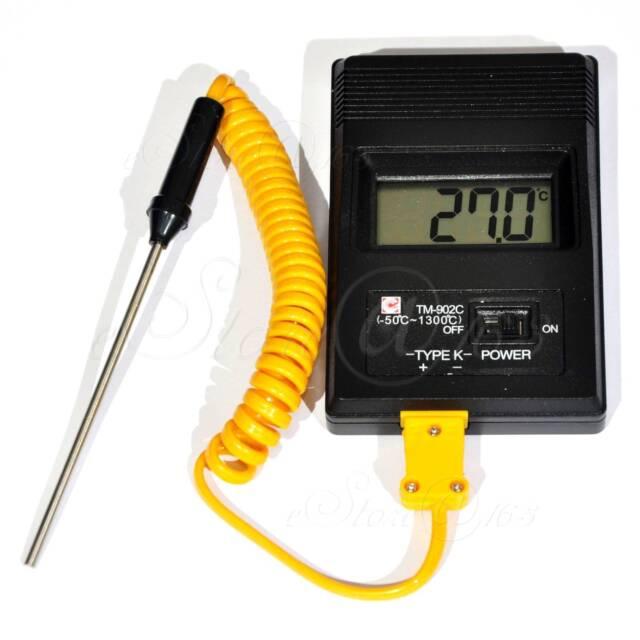 Digital K Type Thermometer Temperature Meter TM902C -50C to 1300C TM-902C
