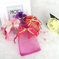 Organza Gift bag Candy Jewelry Pouch Wedding Party Favor w/ Ribbon Bow attached